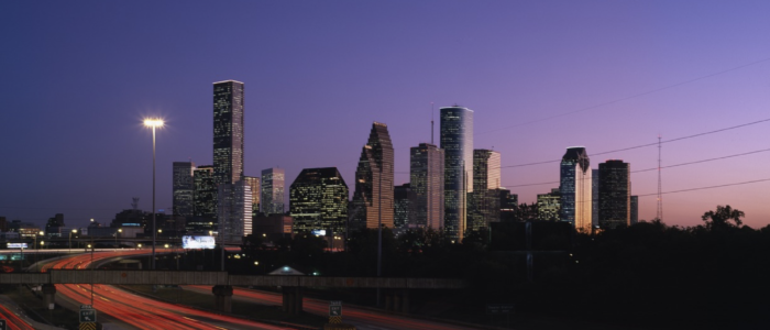 Houston skyline night