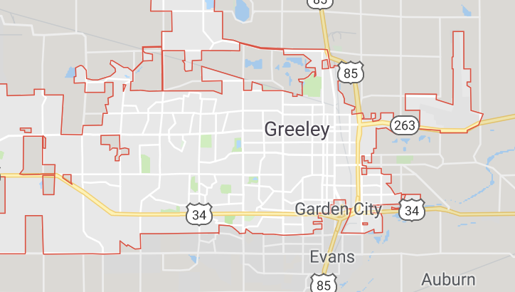 Greeley map