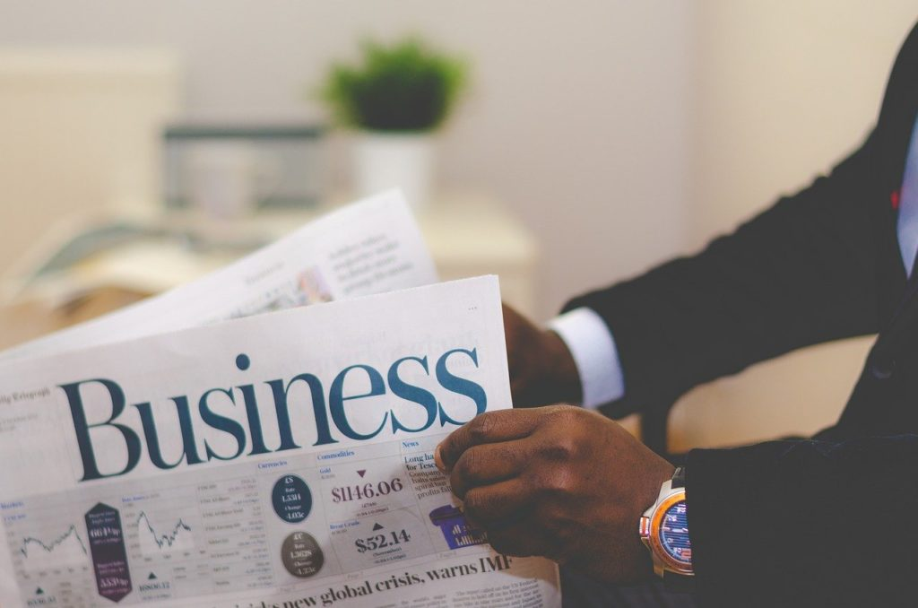 Business section of paper